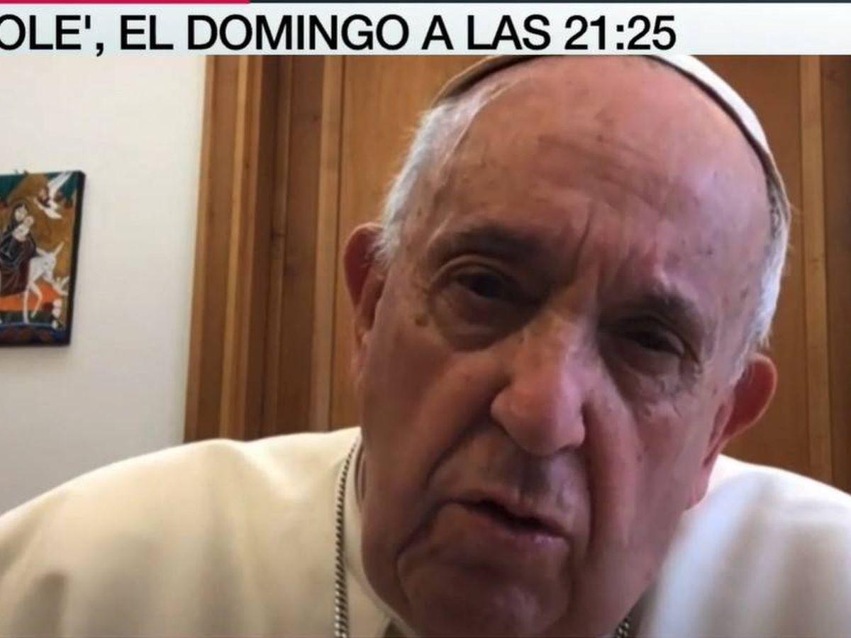 Foto: El Papa Francisco, en 'Lo de Évole'. (Atresmedia)