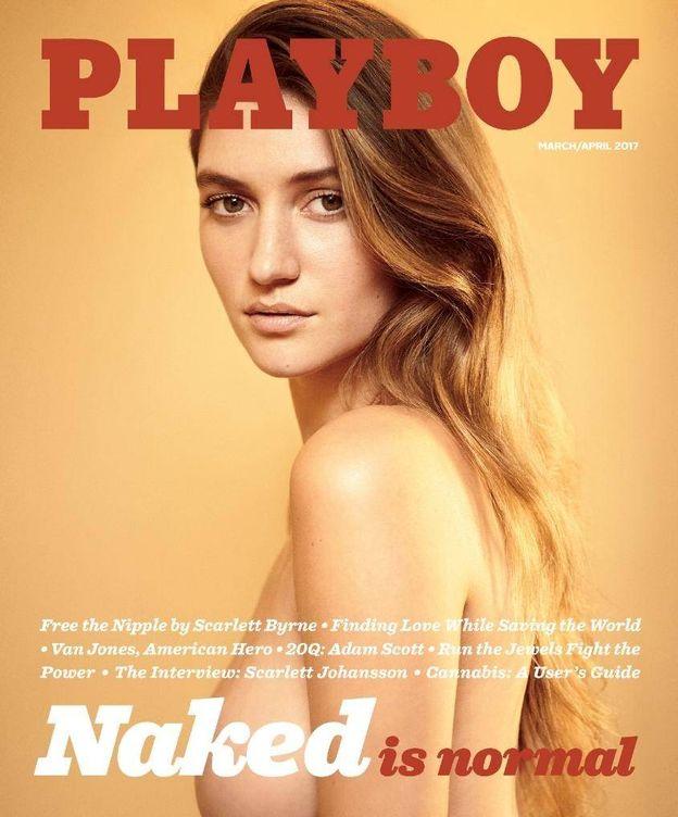 Foto: La próxima portada de Playboy, con la modelo Elizabeth Elam