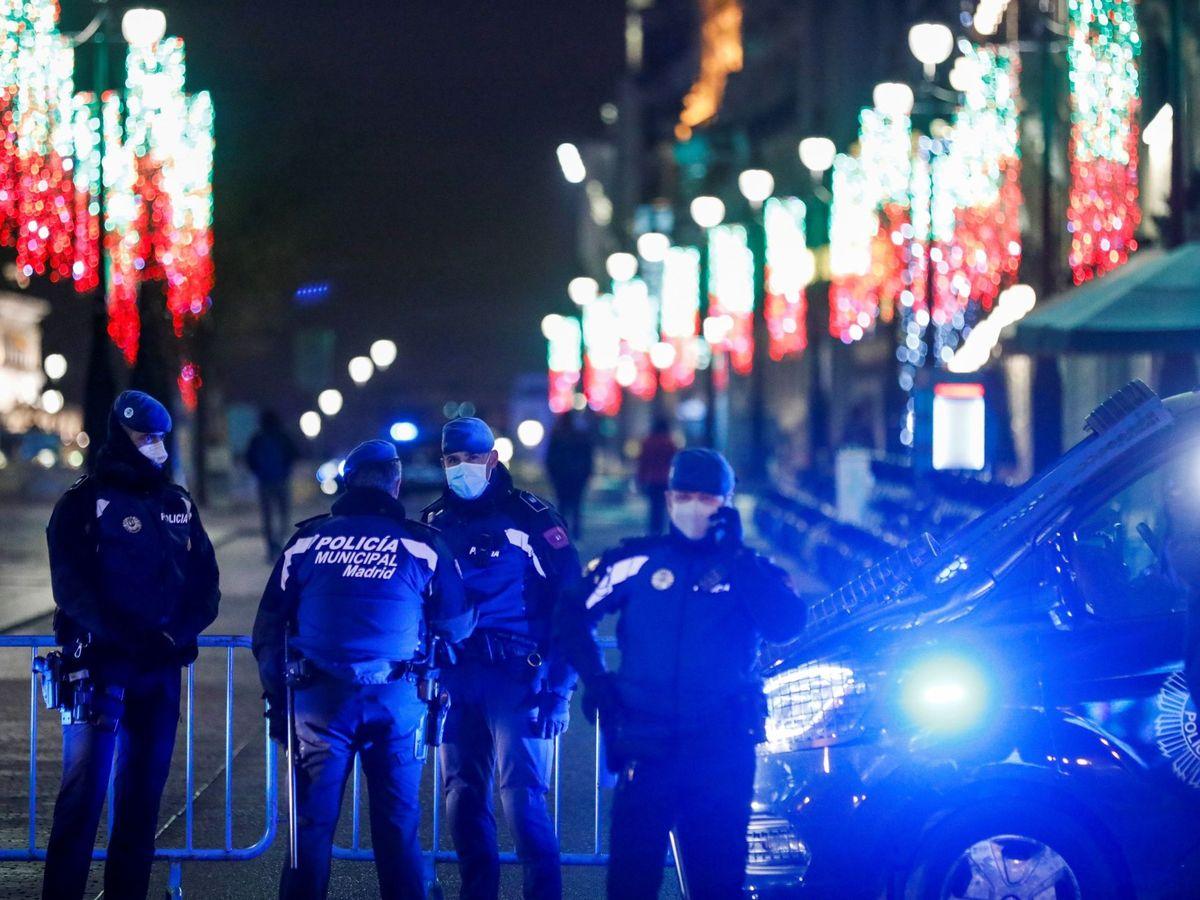 Foto: Policías Nacionales en Madrid. (EFE)