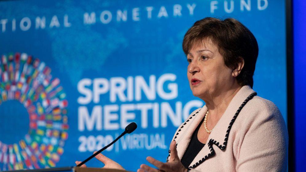 Foto: La directora del FMI, Kristalina Georgieva, en un acto en Washington. (EFE)