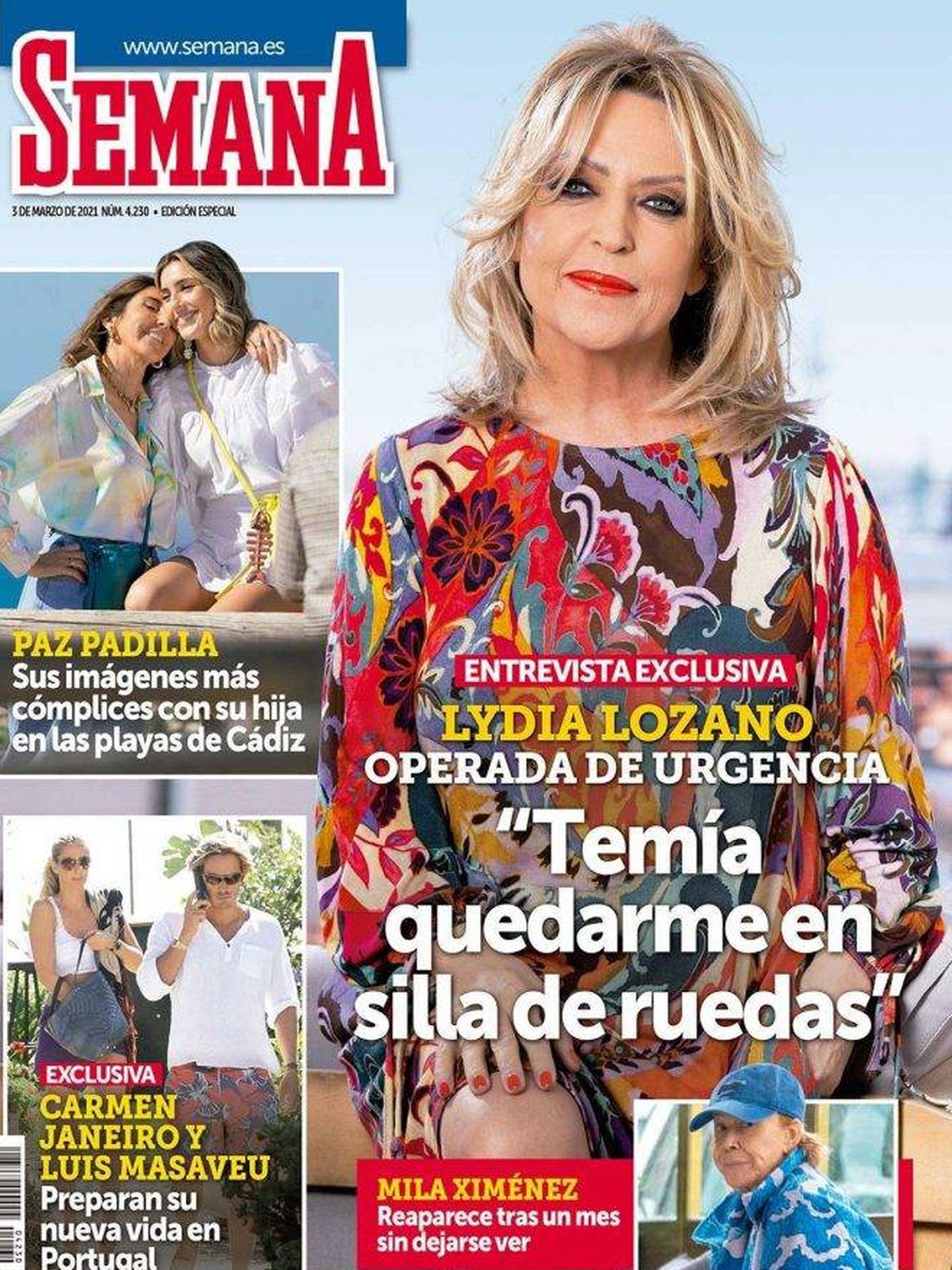 Lydia Lozano en la portada de la revista Semana.