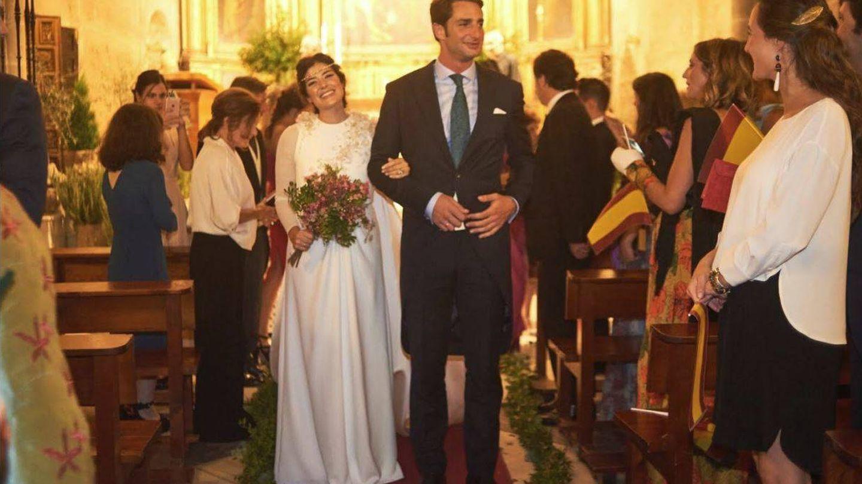 Los recién casados Javier Calle y Coki, la boda a la que asistió Froilán.