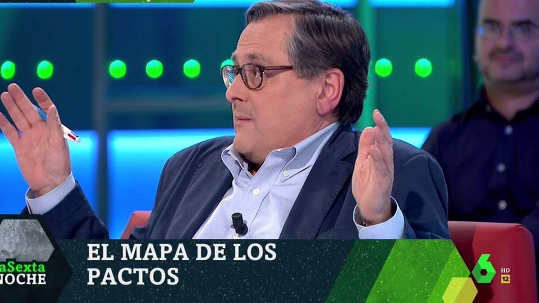 Marhuenda, en el plató de 'La Sexta noche'. (Atresmedia).