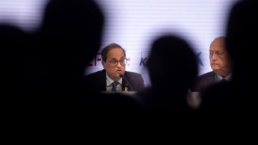 Foto: El presidente de la Generalitat, Quim Torra, en la inauguración de la XXXV reunión del Círculo de Economía de Sitges. (EFE)