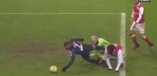 Post de Mbappé marca el gol más esperpéntico de su carrera en la Copa de la Liga