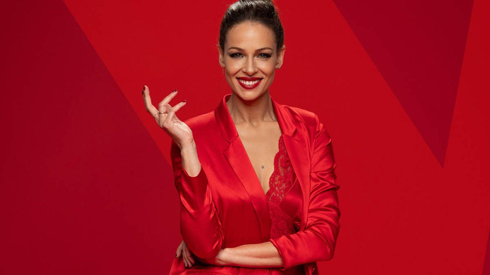Foto: Eva González, presentadora de 'La Voz'. (Antena 3)