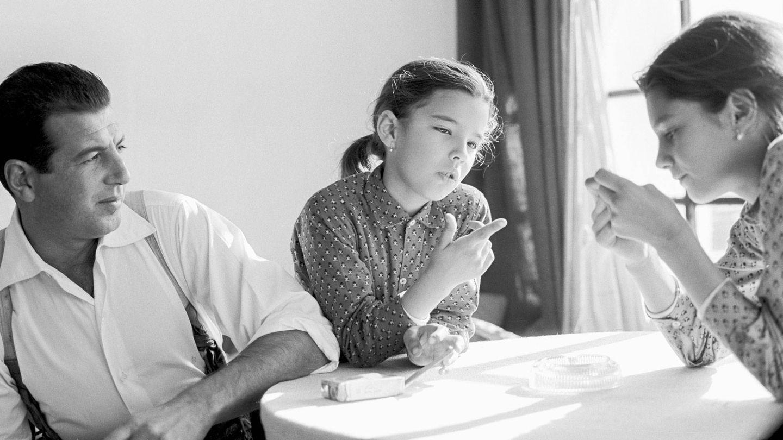 Belén y Carmen Ordóñez en su infancia. (Getty)