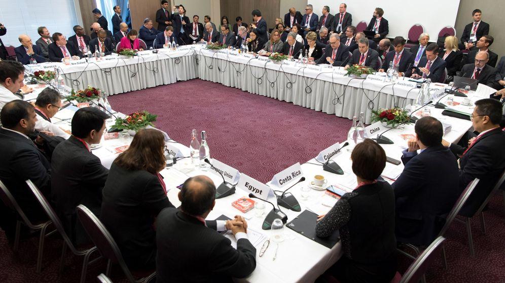 Foto: El Foro Económico Mundial en Davos. (EFE)