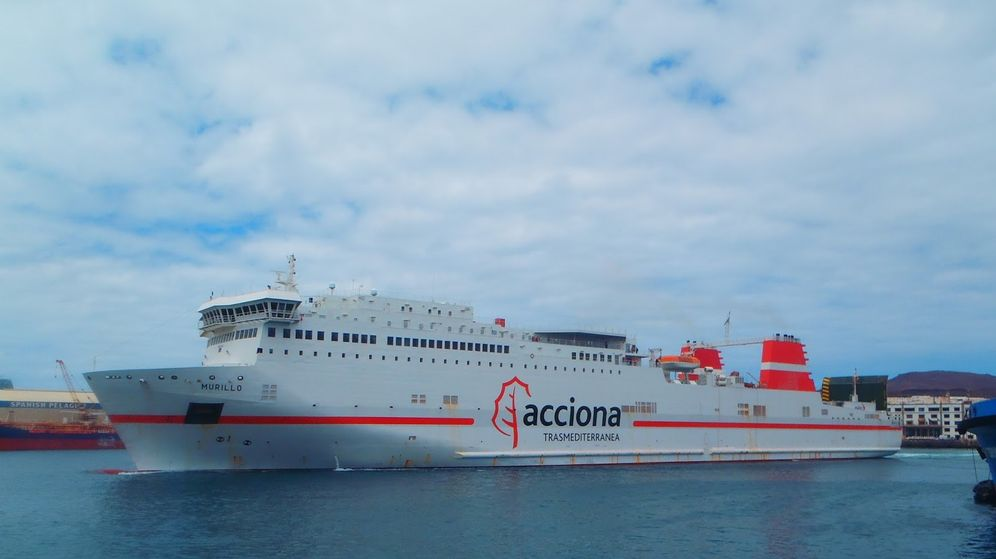 Foto: Ferry de Acciona Trasmediterránea.