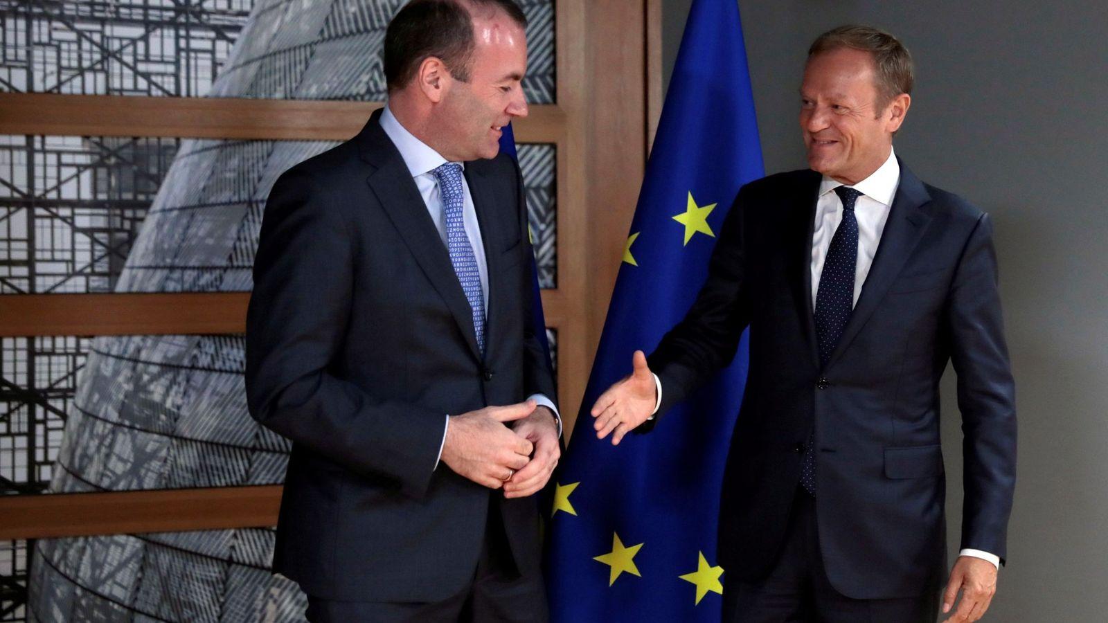 Foto: El presidente del Consejo se reúne con el candidato del PPE. (EFE)
