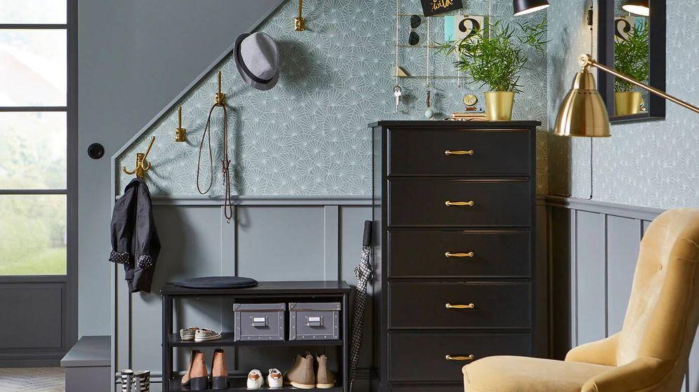 Foto: Consigue un recibidor de revista con muebles 'low cost' de Ikea. (Cortesía)