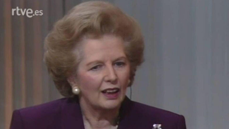 Captura de la entrevista a Margaret Thatcher en el programa 'Primera izquierda'. (Cortesía RTVE)