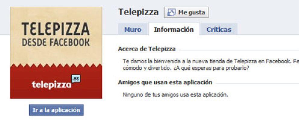 Telepizza se lanza a vender pizzas a través de Facebook