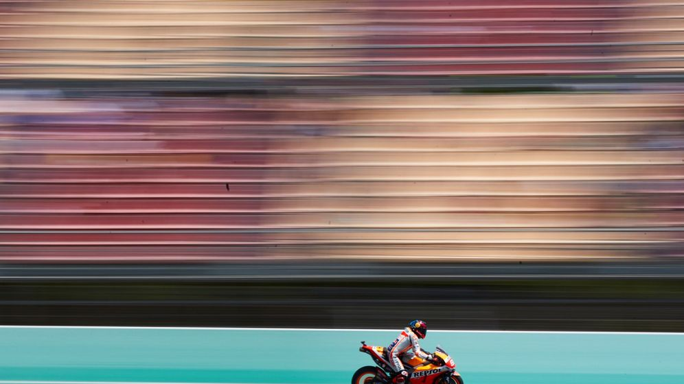 Foto: Jorge Lorenzo, durante los entrenamientos libres del GP de Catalunya. (EFE)