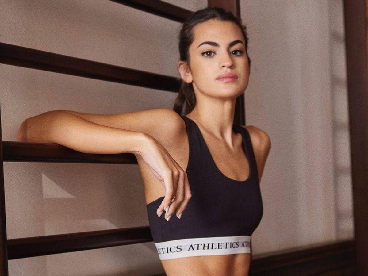 Foto: Marta Lozano modela las prendas sport de Lefties más deseables. (Cortesía)
