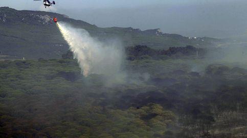 Esta es la mancha negra que ha dejado el fuego en el monte de Tarifa