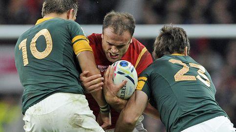 El placaje de rugby es apto para todos los públicos: Los niños son de goma