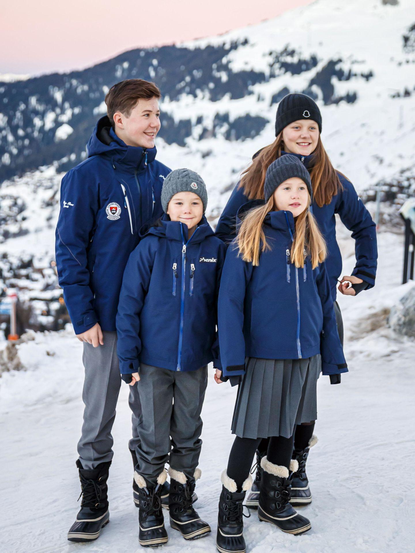Los hijos de Federico y Mary de Dinamarca. (EFE)