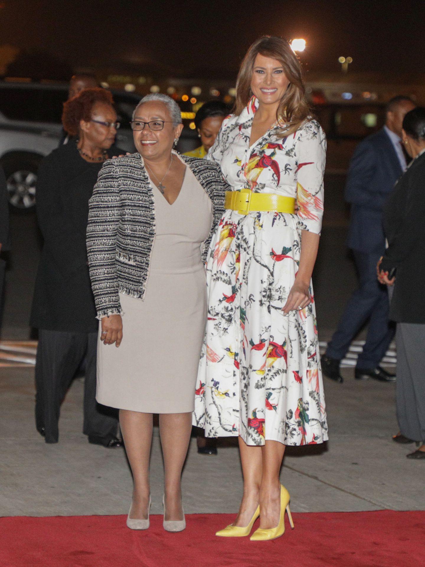 Melania Trump y Margaret Kenyatta.  (Reuters)