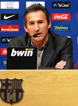 Begiristain cree que Guardiola mejora el 'modelo Barça'