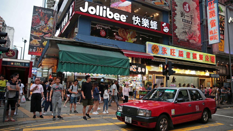 Una intersección de calles en Hong Kong. (Reuters)