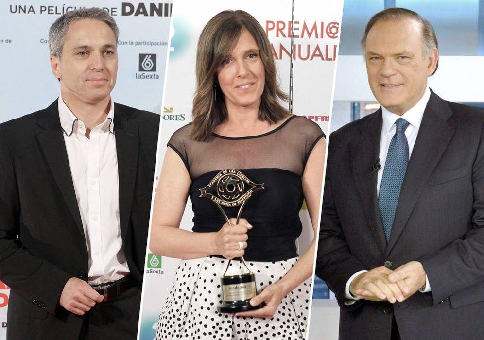 Foto: Vicente Vallés, Ana Blanco y Pedro Piqueras. (EC)