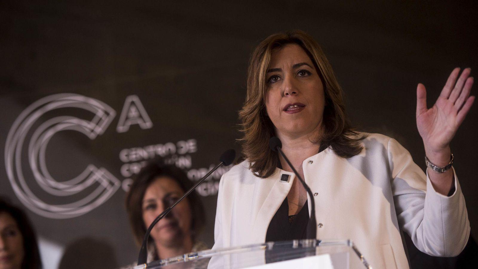 Foto: Susana Díaz, este 19 de diciembre, durante la inauguración del Centro de Creación Contemporánea de Andalucía, en Córdoba. (EFE)