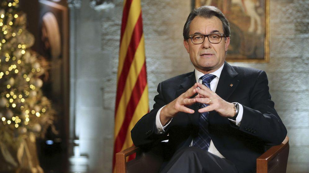 Foto: Discurso de fin de año de Artur Mas. (EFE)