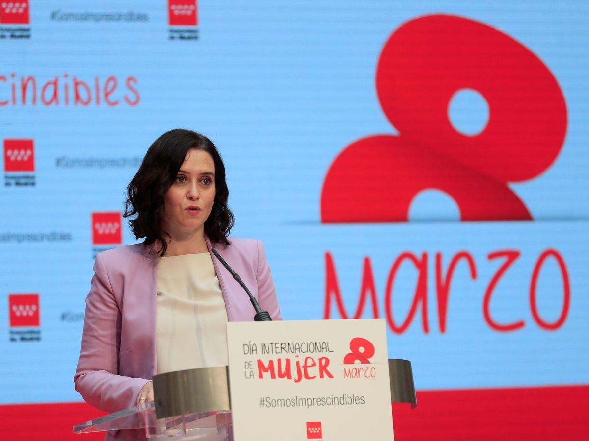 Foto: Isabel Díaz Ayuso este lunes. (EFE)