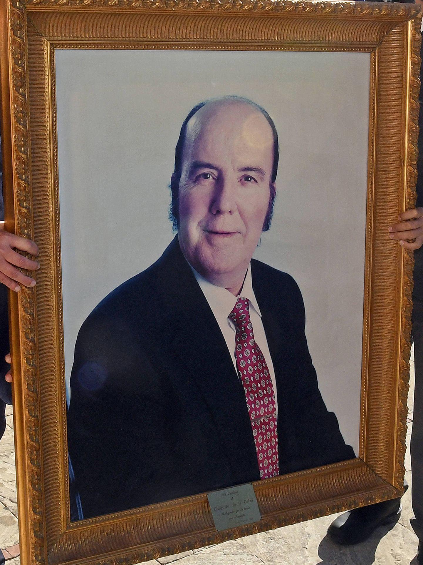 El retrato de Chiquito de la Calzada estuvo presente durante la misa.