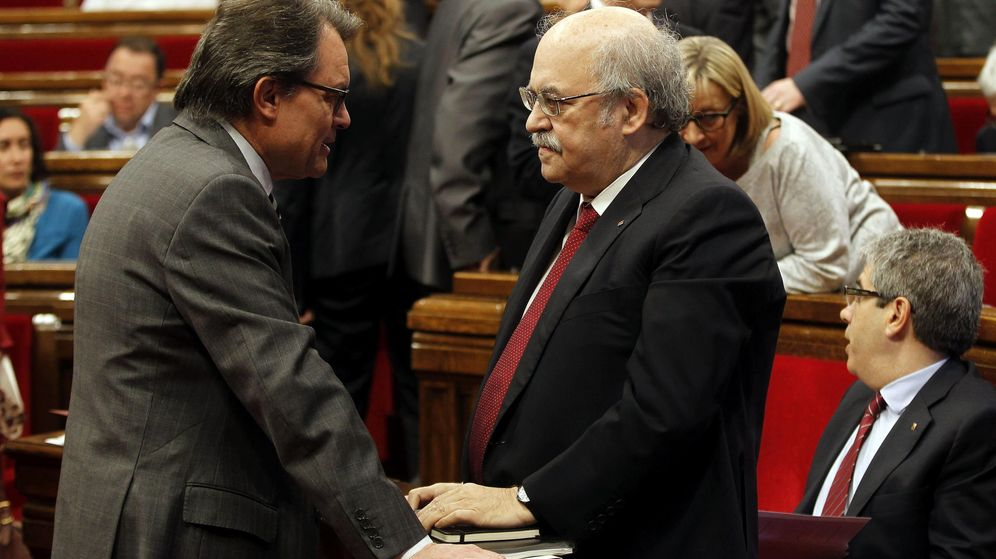 Foto: Fotografía de archivo del expresidente de la Generalitat Artur Mas (i) y el 'exconseller' de Economía Andreu Mas-Colell. (EFE)