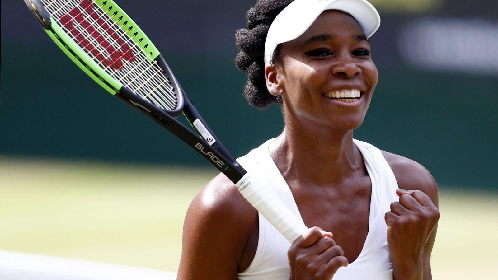 Foto: Venus Williams celebra su pase a la final de Wimbledon. (EFE)