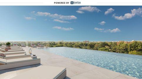 Viviendas en Madrid con terraza, jardín y piscina junto a un parque histórico