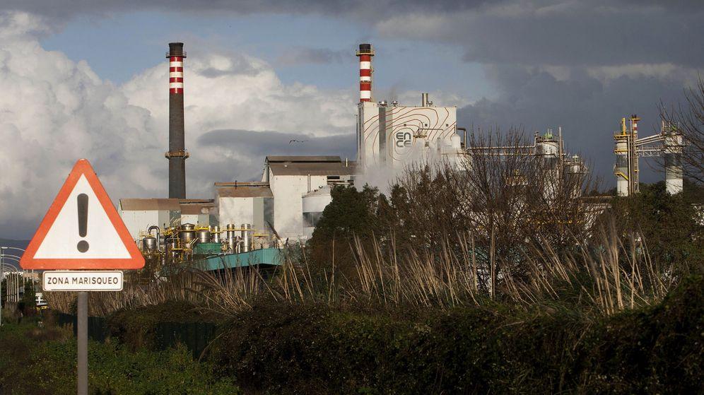 Foto: Vista del centro de operaciones de la empresa Ence en Pontevedra. (EFE)