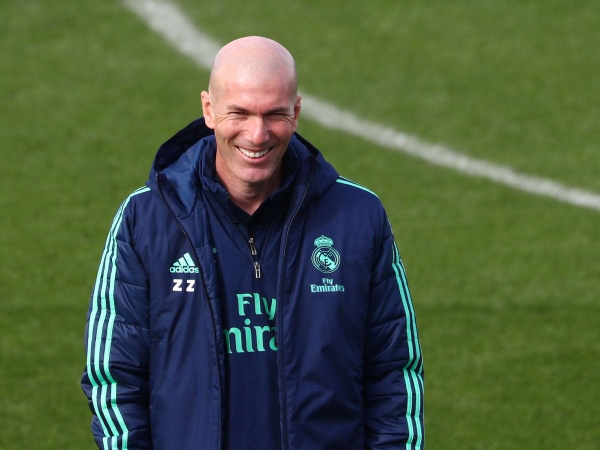 Foto: Zidane, durante un entrenamiento de la pasada temporada. (Reuters)