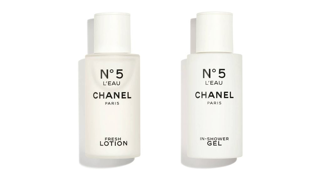 Foto: N°5 L'Eau In-Shower Gel y N°5 L'Eau Fresh Lotion (ambas 100 ml).