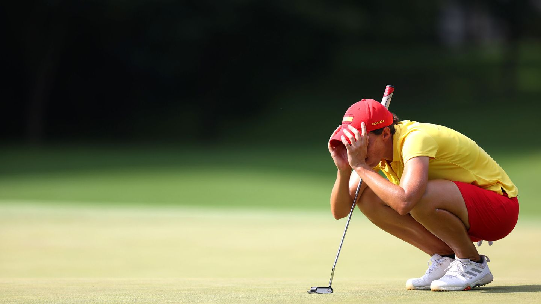 La golfista Carlota Ciganda debutó con un buen resultado en los JJOO de Tokio. (Reuters)