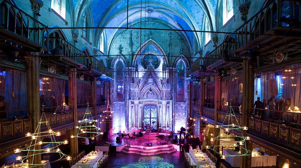 Foto: La sinagoga de Ángel Orensanz de Nueva York, en una imagen de su fundación