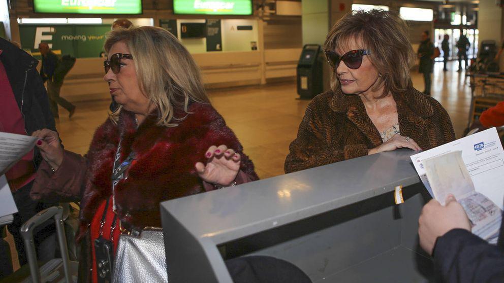 Las Campos parten hacia Nueva York cargadas de maletas