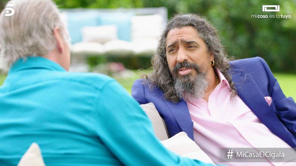Foto: El Cigala contó en 'Mi casa es la tuya' lo mal que lo pasó después de la muerte de su mujer. (Telecinco)