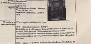 Post de Lleida no entrega un valioso lienzo de Sijena y dice que se ha extraviado