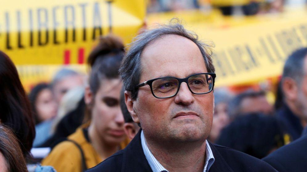 Foto: Quim Torra, presidente de la Generalitat, quien ha sido acusado en los últimos días de lanzar comentarios xenófobos. (EFE)