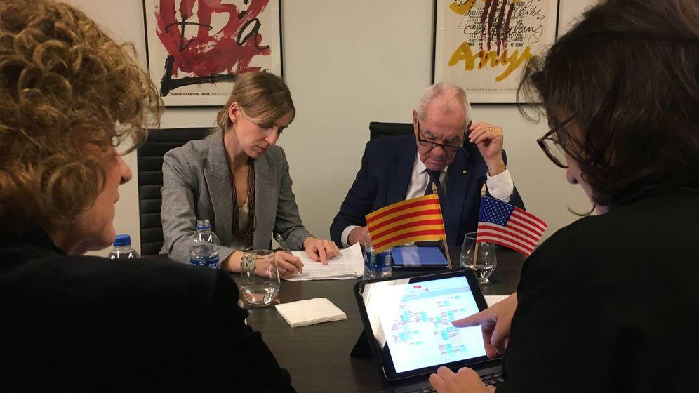 Foto: Ernest Maragall inaugura la 'embajada' de la Generalitat en Washington. (Carlos Pérez)