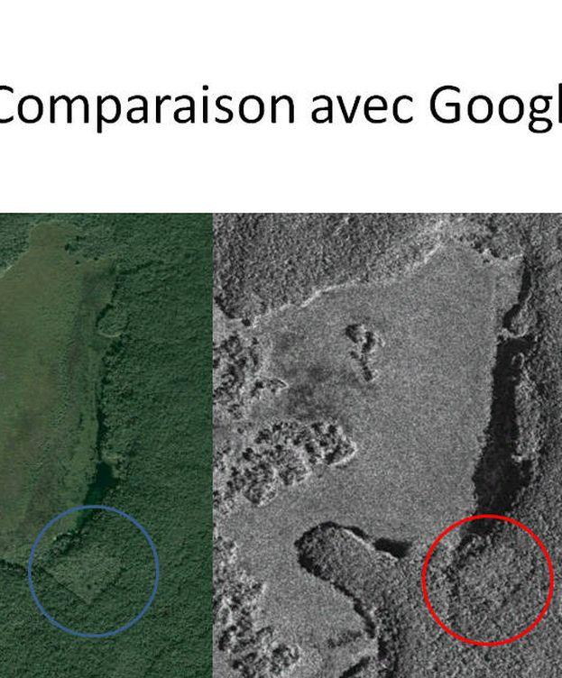 Foto: La zona donde William Gadoury supuso que estaría la nueva ciudad maya (CSA)