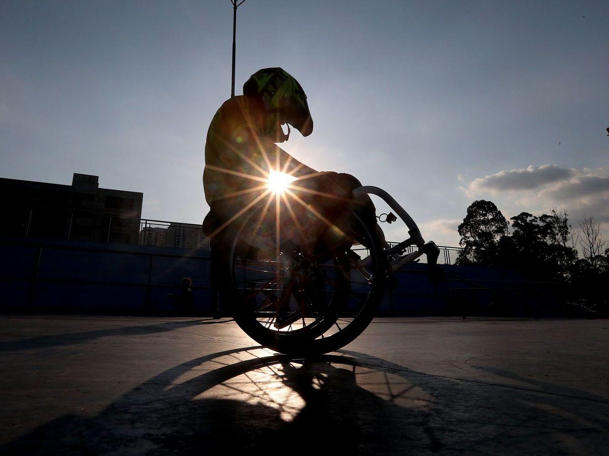 Foto: Skate en silla de ruedas en un brasil inaccesible