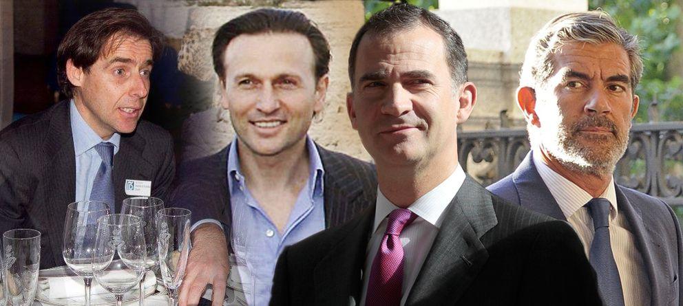 Foto: Javier López Madrid, David Hachuel, el Príncipe Felipe y Pedro López Quesada. (EC)