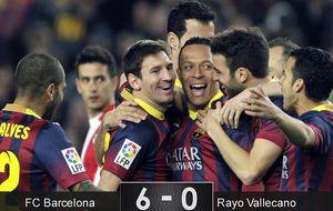El Barça recupera su fuego ante el Rayo antes de volver a Europa