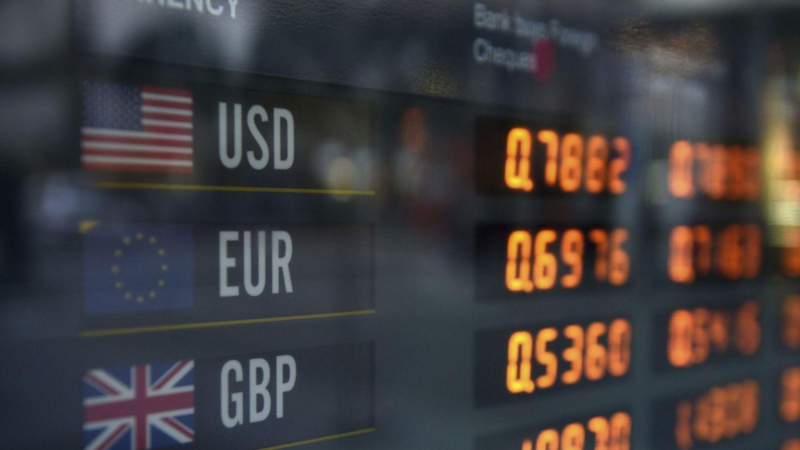 Foto: Diferentes precios de las divisas. (EFE)