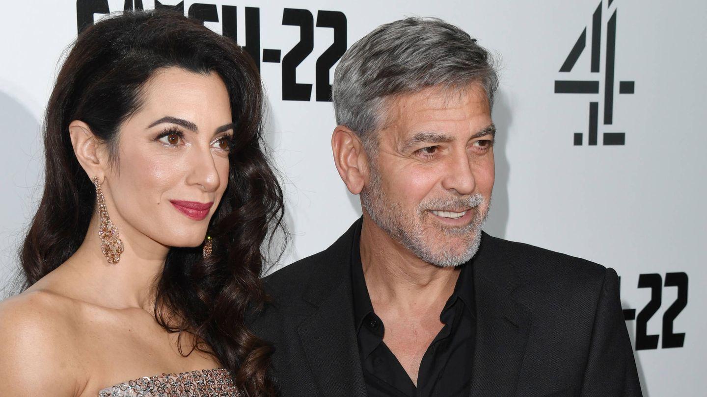 Amal y George Clooney, en una imagen de 2019. (Getty)
