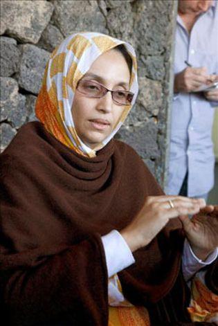 Foto: Haidar completa hoy su cuarta semana en huelga de hambre